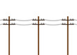 Electric pole vector. electric pole on white background. free space for text. copy space.