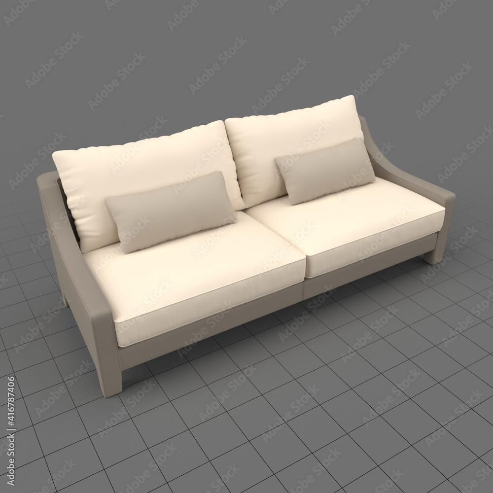 Fototapeta Loveseat sofa with cushions 2