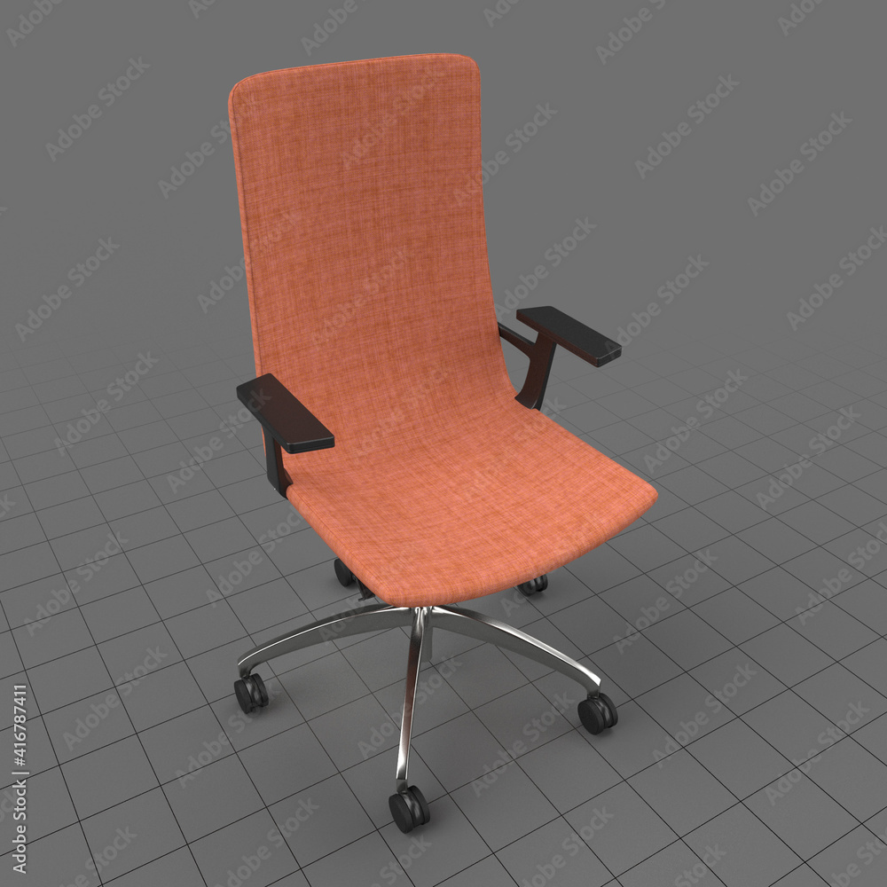 Fototapeta Office chair with high back