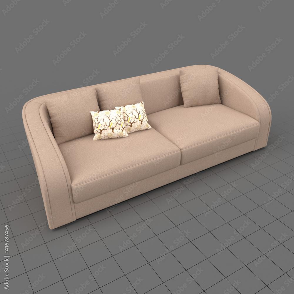 Fototapeta Loveseat sofa with cushions 1