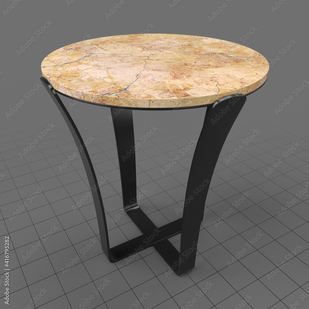 Fototapeta Side table with marble top