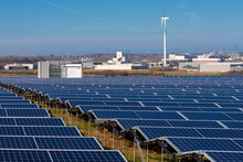 Innovation To Meet The Sustainable Development Goals By Creating Solar Panel Fields And Adding Wind Mill Turbines To Create Energy In A New Way Without Polluting Power Plants