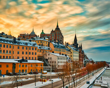 Sunset At Iconic Sodermalm In Stockholm