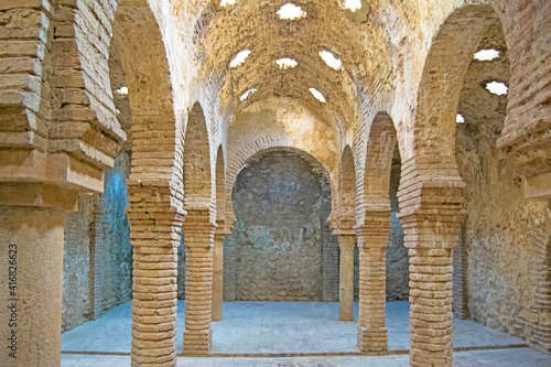 Canvas Ronda, Spain, August 2020, Arab baths built in XIII century