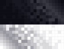 Elegante Fondo Para Banners Con Fondo Caudriculado Degradado En Blanco Y Negro