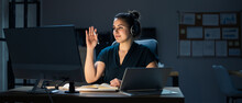 Raising Hand In Online Video Conference Call