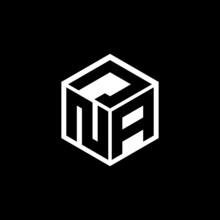 NAJ Letter Logo Design With Black Background In Illustrator, Cube Logo, Vector Logo, Modern Alphabet Font Overlap Style. Calligraphy Designs For Logo, Poster, Invitation, Etc.