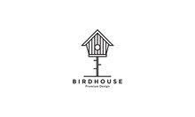 Modern Birdhouse  Logo Design Vector Icon Symbol Graphic Illustration