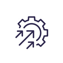 Efficiency And Production Growth Line Icon