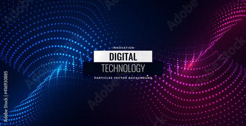 Fototapeta digital particles flowing background design obraz