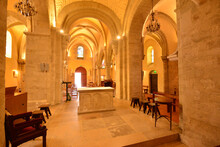 Verneuil Sur Seine; France - June 24 2020 : The Saint Martin Church