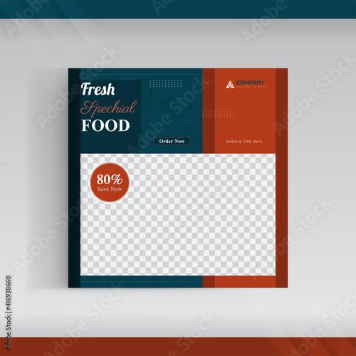 Canvas Print Today's menu banner template design