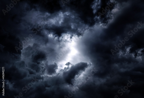 Fototapety, obrazy: Dramatic Clouds Background