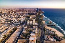Cityscape Of Jeddah Seashore