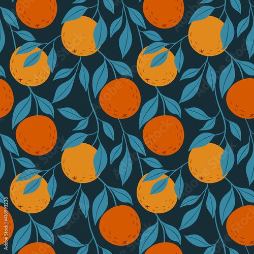 Fotografija Orange colorful seamless pattern