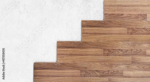 Fototapeta Wooden and concrete cement floor texture obraz na płótnie
