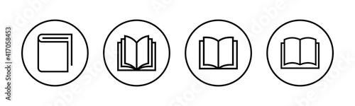 Photo Book icons set. Book vector icon