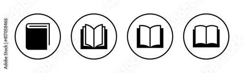 Canvas Print Book icons set. Book vector icon