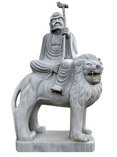 Chinese Lion Stone Guardian Temple Statue Eighteen Arhats