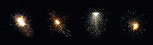 Fire Sparks From Sparklers Or Metal Welding Transparent Png Background Illustration
