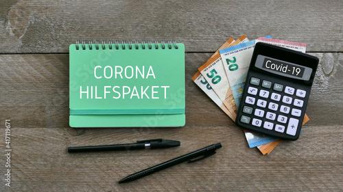 Obraz Corona Hilfspaket - fototapety do salonu