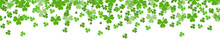 St. Patrick's Day Banner .Template For Your Design With Clover, Shamrock. Vector Illustration