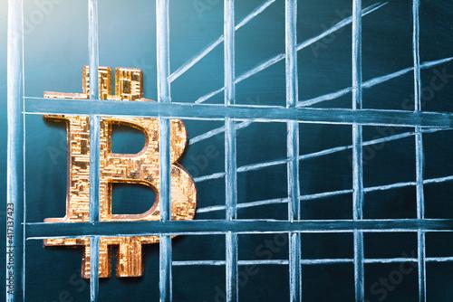 Bitcoin in prison Fototapet