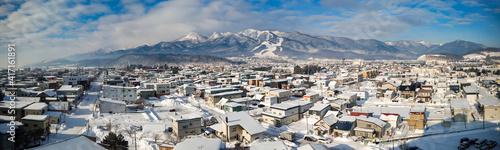 Fotografering 【北海道】冬の富良野市の展望 パノラマ