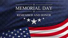 Memorial Day Background With National Flag Of United States. National Holiday Of The USA.