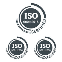 ISO 9001 Flat Pictogram, 2000, 2008 And 2015