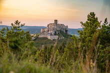 Spis Castle, Slovakia Unesco World Heritage Site. The Biggest Castle In The Central Europe.