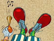Clown Feet Shoes Profession Circus Profession