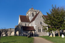 View Of St Marys And St Blaise Church In The Village Of Boxgrove In West Sussex, This Church Dates From The 12th Century.