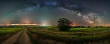 Milky Way Bow Over Villahoz