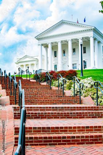 Fotografie, Obraz Virginia Statehouse, Richmond, Virginia VA legislature, public buildings, on a s