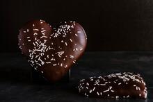 Heart Shaped Chocolate Cookies