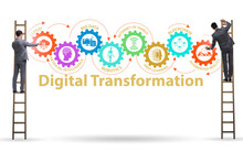 Concept Of Digital Transformation With Businessman
