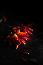 Bouquet Of Fresh Red Chilli Peppers