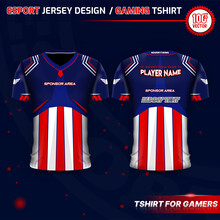 Jersey Design For E-Sport, Football, Gaming Squad, Soccer Team With USA Theme