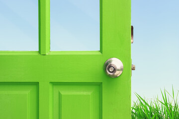 opening the green door to the spring field