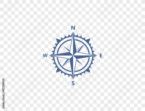 Valokuva Compass, navigation icon on transparent background