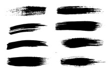 A Selection Of Brush Strokes For Your Artistic Design.