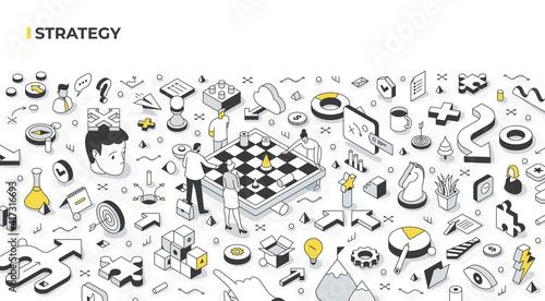 Strategy & Decision Making Isometric Illustration