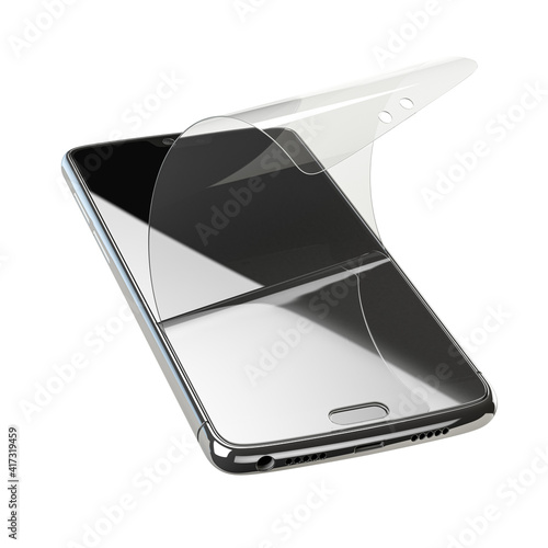 Smartphone screen protector glass or film cover Fototapete
