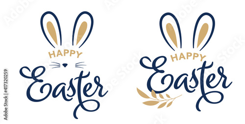Happy Easter concept design, story template and banner set with bunny ears Wallpaper Mural