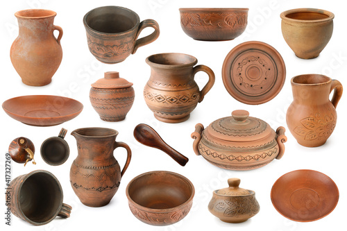 Set ceramics from different angles isolated on white © Serghei Velusceac