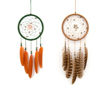 Native American Dreamcatcher Isolated On White