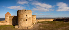 Medieval Fortress In Akkerman City.  Akkerman Fortress Is A Historical And Architectural Monument Build In Time Of Golden Horde In 13 Century. Historical Heritage From Ottoman Empire.