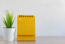 Flip Calendar For April 2021. Desktop Calendar For Planning, Scheduling, Assigning, Organizing, Managing Each Date.