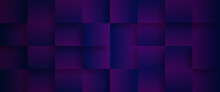 Abstract Purple Background With Squares